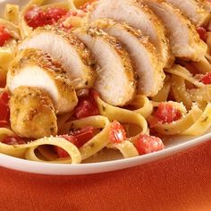 Garlic Chicken Pasta - this quick-to-make dish is ready in less than 30 minutes.