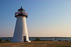 Ned's Point Lighthouse in Mattapoisett, Massachusetts.