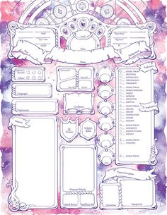 Spellbound Character Sheets - D&D Rpg Character Sheet, Character Sheet Template, Character Creation, Character Concept, Character Design, Dungeons And Dragons Characters, D&d Dungeons And Dragons, D D Characters, Wallpaper Gamer