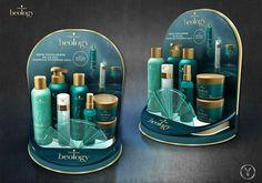 Wavy Hair Care, Hair Care Oil, Blonde Hair Care, Makeup Display, Cosmetic Display, Pop Display, Display Design, New Hair, 3ds Max Vray
