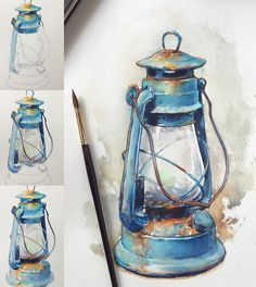 40 Realistic But Easy Watercolor Painting Ideas You Haven't Seen Before Watercolor Drawing, Painting & Drawing, Watercolor Paintings, Watercolor Illustration Tutorial, Watercolors, Easy Watercolor, Art Sketches, Art Drawings, Blue Drawings
