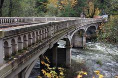 A bridge over the McKenzie River in Oregon.