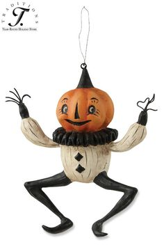 DANCING PUMPKIN ORNAMENT By Johanna Parker for Bethany Lowe