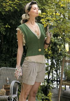 Free knitting pattern - Glace in Rowan Classic Silk Cotton (Discontinued)