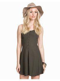 Strappy button dress