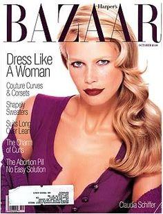 Bazaar October 1994 - Claudia Schiffer
