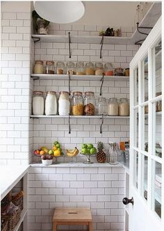 The simplicity of white subway tiles lend themselves to any space in any kitchen, from the splashback to the larder.