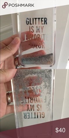 Kate Spade IPhone 6/6S phone case Like new, glitter moves through the case, very cool! I upgraded my phone so only used for a short while. kate spade Accessories Phone Cases