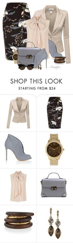"""Sin título #2143"" by asunvitoria ❤ liked on Polyvore featuring Doublju, River Island, Gianvito Rossi, Olivia Pratt, MaxMara, NEST Jewelry and Givenchy"