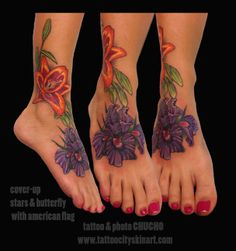 Flower Tattoo On Foot/Ankle