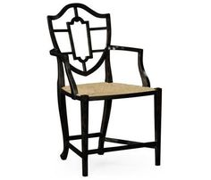 Dining Arm Chair JONATHAN CHARLES WILLIAM YEOWARD Charcoal Wash Fruitwoo JC-2410