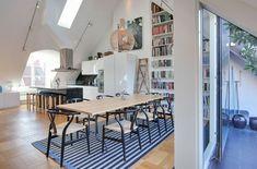 Dachwohnung-moderne skandinavische Inneneinrichtung | architecture ...