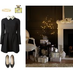Christmas is coming by maidensblush on Polyvore featuring Valentino, Van Cleef & Arpels, Jean Patou, M&S and Anniel