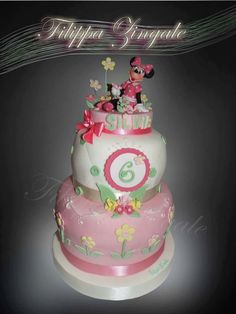 #sugarcake #birthdaycake #cakedesigne #minniecake