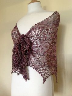 Almost Autumn lace shawl pattern by Boo Knits