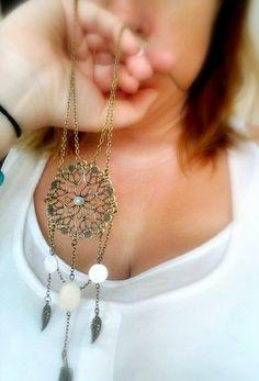 Boho Jewelry Dreamcatcher Necklace Boho Jewellery