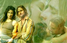 I love this picture of Kate Austen (Evangeline Lilly) and  Sawyer ( Josh Holloway)