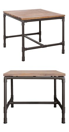 Give a beloved accent lamp or collection of sofa-side reading a handsome home. This Mission Side Table features industrial-style metal pipe framing and a warmly finished acacia wood top. Add this charm...  Find the Mission Side Table, as seen in the Rustic Industrial Living Collection at http://dotandbo.com/collections/rustic-industrial-living?utm_source=pinterest&utm_medium=organic&db_sku=117074