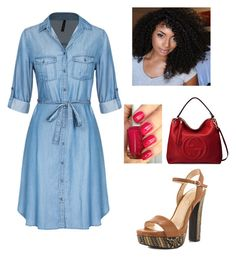 Untitled #8 by davida-billings on Polyvore featuring polyvore fashion style Jessica Simpson Gucci Essie clothing