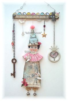 Lovely altered art wallhanging