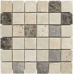 Mosaique Travertin Mix Gris 4 8 X 4 8 Travertin Mosaique Gris