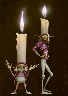 Candle Hats - Brian Froud : AMAZING IDEA ! JUST LOVE THIS ARTIST!!!!