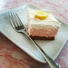 Fluffy Pink Lemonade Cake -  a perfect summer dessert.