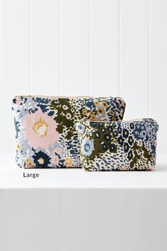 Cornflower Printed Velvet Pouch Online | Shop EziBuy