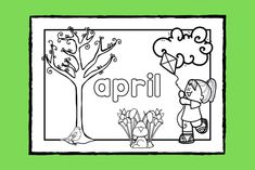 Lär dig skriva namnet på och känna igen vårtecknen för månaden #april medan du färglägger målarbilden.   #färglägga #målarbild #vår #skola #förskola #fritids #pedagog Math Worksheets, Banksy, Google Drive, Social Studies, Stencil, Art For Kids, Preschool, September, Mandalas
