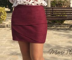 Mini Skirts, Fashion, Maroon Skirt, Store, Skirts, Handmade, Chic, Colors, Moda
