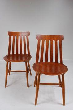 1950's nice quality teak plywood Danish chair