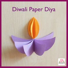 Diwali Paper Diya  Paper Decorations  Paper Craft Diwali Craft