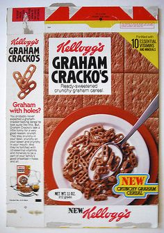 1978 Kellogg's Graham Cracko's Cereal Box Front