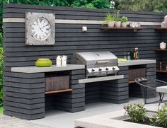 meridian 4 built in gas bbq the barbecue store spain - built in bbq cost built in bbq cost, meridian in gas bbq Modern Outdoor Kitchen, Outdoor Kitchen Bars, Backyard Kitchen, Backyard Bbq, Outdoor Kitchen Countertops, Modern Outdoor Grills, Covered Outdoor Kitchens, Concrete Backyard, Outdoor Bars