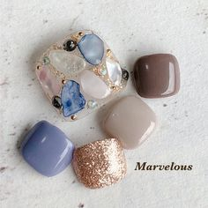 Fancy Nails, Love Nails, My Nails, Feet Nail Design, Toe Nail Designs, Toe Nail Art, Easy Nail Art, Japan Nail, Cute Pedicures