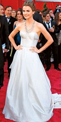 20 Best Red-Carpet Dresses - Keri Russell in Nina Ricci from #InStyle
