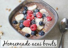 Homemade acai bowls - The Fitnessista