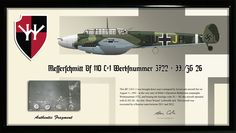 Luftwaffe Messerschmitt Bf 110 C-1 'Horst Wessel' Relic Display