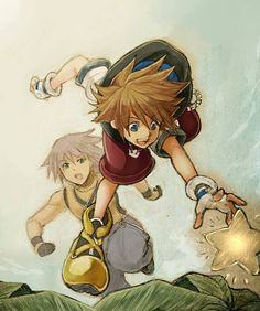 Sora and Riku ~ aksmvmd I love this!! It's beautiful!