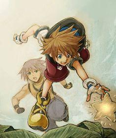 Sora and Riku ~ aksmvmd I love this!! It's beautiful!