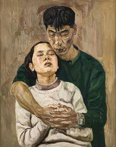 Liu Xiaodong (b. 1963), True Love, 1991, oil on canvas, 100.5 x 80.5 cm