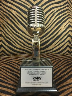 Custom Vintage Microphone Awards provided exclusively by Brand O' Guitar Company.