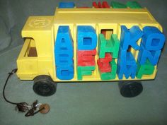 Mattel Vintage Tuff Stuff Toy Truck and Alphabet Letters 1971 Entire Alphabet | eBay