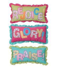 Look what I found on #zulily! Inspirational Pillow Set #zulilyfinds