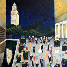 Live Event Painting | Color Me Nola  | Kristy Oustalet | Weddings | New Orleans | Baton Rouge | Baton Rouge Capital