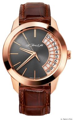 Master Horologer: A. Favre & fils Phoenix Watch: Quest of mechanical purity Elegant Watches, Stylish Watches, Luxury Watches For Men, Beautiful Watches, Cool Watches, Rolex Watches, Dream Watches, Rose Gold, Watch Brands