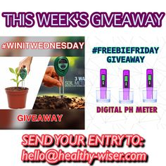 LAST CALL! This is your last chance to enter to this week's giveaways! 😍 We're giving away 1 Soil Meter and 1 Digital PH Meter for our lucky #winners 🎉 Send your entries to hello@healthy-wiser.com now and don't forget to #follow us! 😘 #giveaway #giveaways #winitwednesday #freefriday #free #veganproducts #vegan #crueltyfree #healthyliving #healthylifestyle #gardening #plants #flowers #lastcall #yay #win #contest #competition #yolo #love #enjoy #fun
