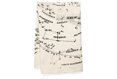 Tea towels with constellation maps, so cute!