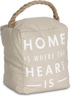 Open Door Decor - Home is Where the Heart is Tan Decorative Door Stopper Shelf Decor