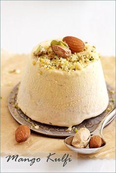 Indian Ice Cream  | ... Dessert / Vegetarian} MANGO KULFI … Traditional Indian Ice Cream